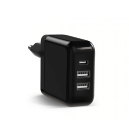 P2C Keyco Travel Fast Charger 3 in 1 inclusief USB-C Kabel