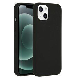 Accezz Accezz Liquid Silicone Backcover Zwart iPhone 13 Mini