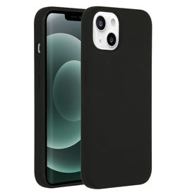 Accezz Accezz Liquid Silicone Backcover Zwart iPhone 13