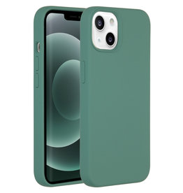 Accezz Accezz Liquid Silicone Backcover Donkergroen iPhone 13