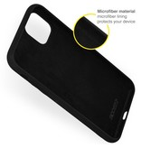 Accezz Accezz Liquid Silicone Backcover Donkergroen iPhone 13  Pro Max