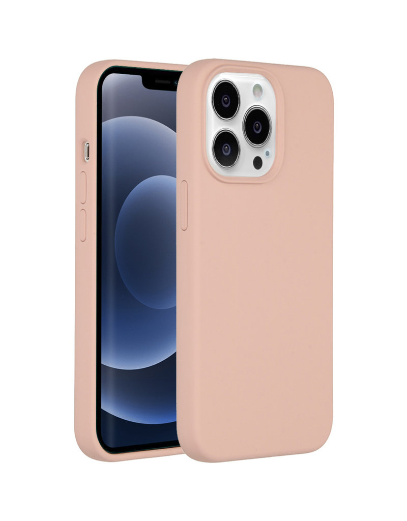 Accezz Accezz Liquid Silicone Backcover Roze iPhone 13  Pro