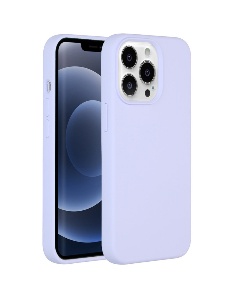 Accezz Accezz Liquid Silicone Backcover Paars iPhone 13  Pro