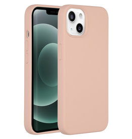 Accezz Accezz Liquid Silicone Backcover Roze iPhone 13