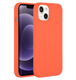 Accezz Accezz Liquid Silicone Backcover Nectarine iPhone 13