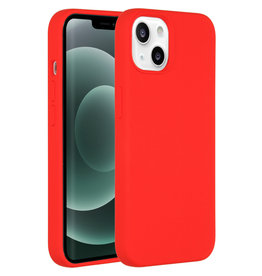 Accezz Accezz Liquid Silicone Backcover Rood iPhone 13 Mini