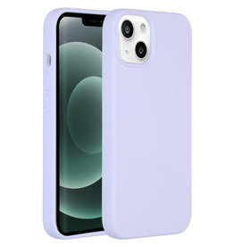 Accezz Accezz Liquid Silicone Backcover Paars iPhone 13 Mini