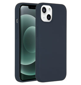 Accezz Accezz Liquid Silicone Backcover Donkerblauw iPhone 13 Mini