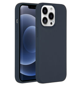 Accezz Accezz Liquid Silicone Backcover Donkerblauw iPhone 13 Pro Max
