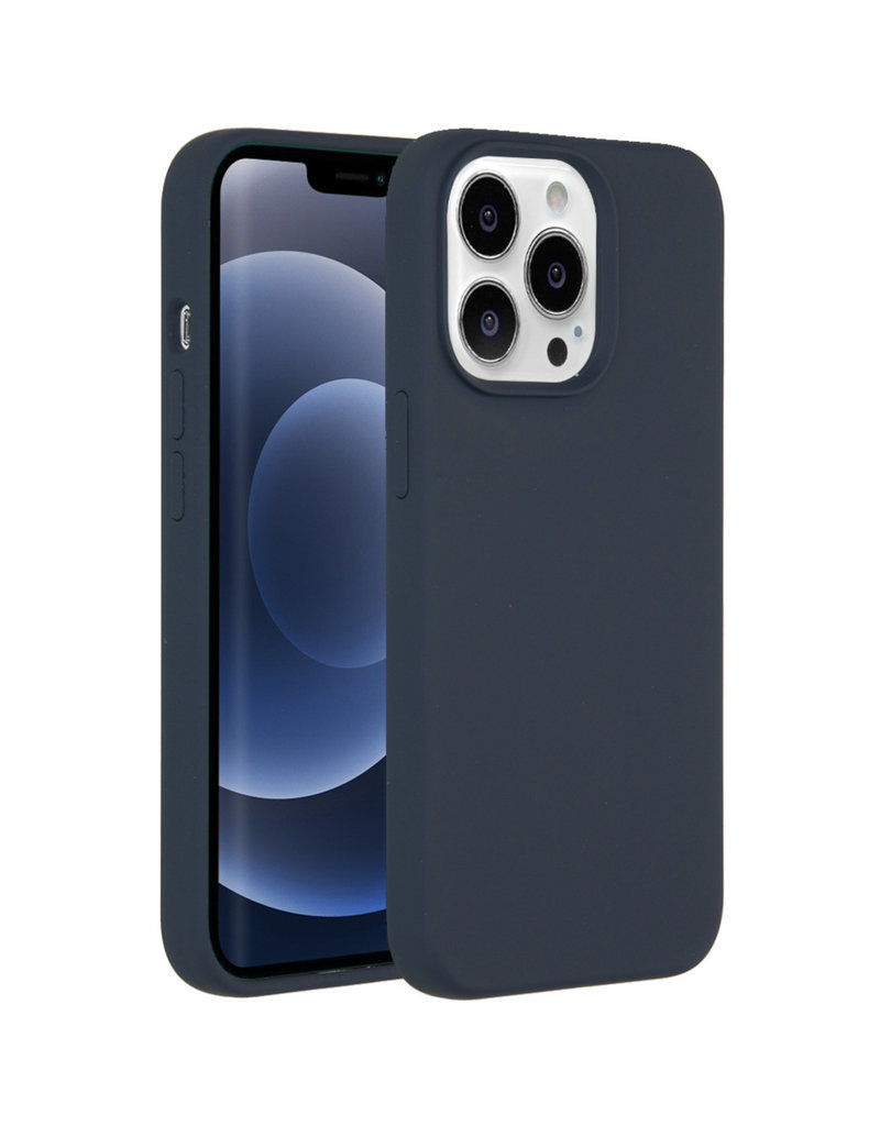 Accezz Accezz Liquid Silicone Backcover Donkerblauw iPhone 13  Pro