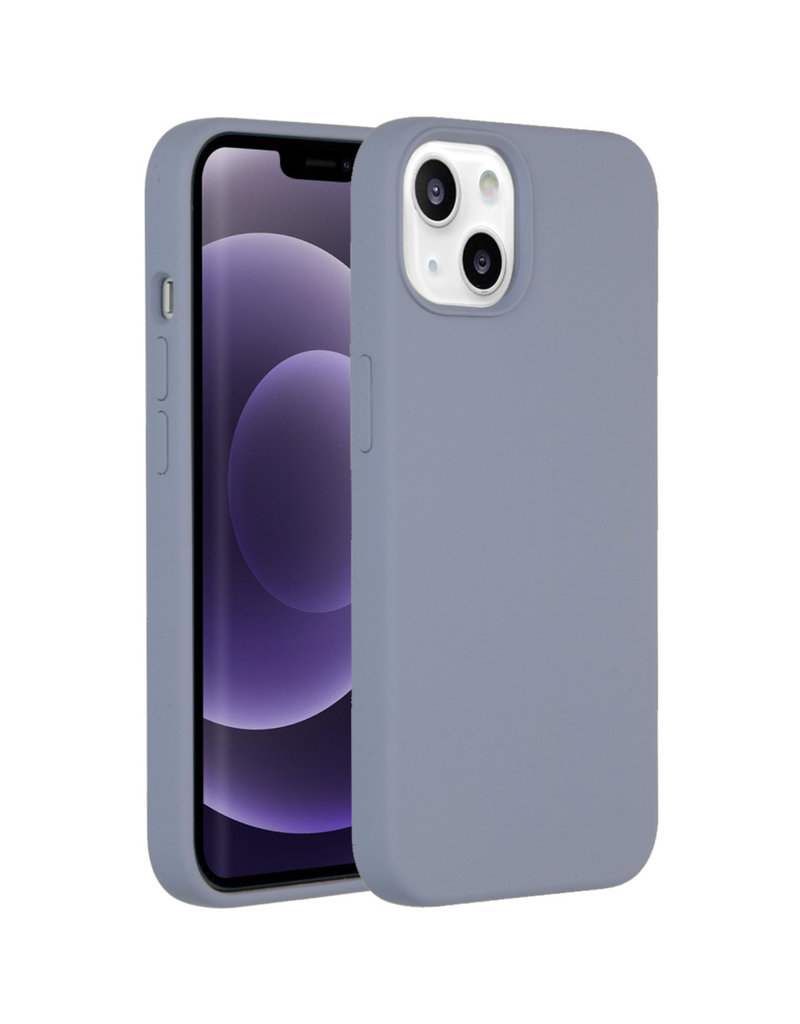 Accezz Accezz Liquid Silicone Backcover Lavender Grey iPhone 13