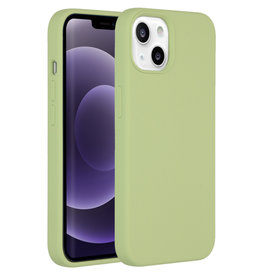 Accezz Accezz Liquid Silicone Backcover Groen iPhone 13