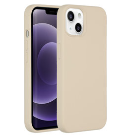 Accezz Accezz Liquid Silicone Backcover Stone iPhone 13