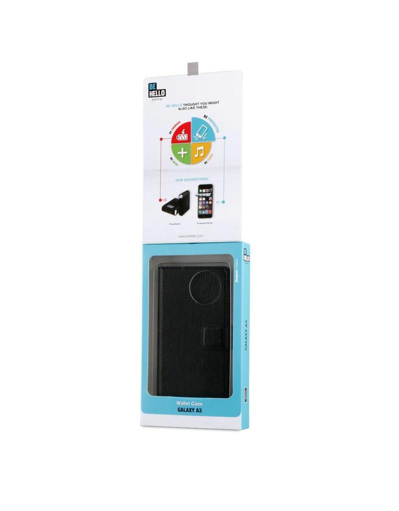 BeHello Galaxy A3 Wallet Case Zwart
