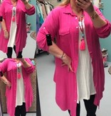 BLOUSE LONG PINK MATEN 44 TOT 48