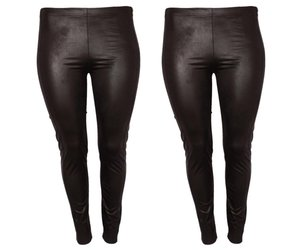 Magna Leather Look Legging Zwart Bobby S Beautiful Curves