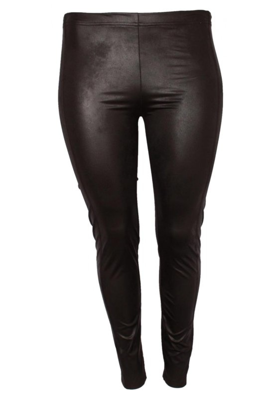 MAGNA LEATHER LOOK LEGGING ZWART