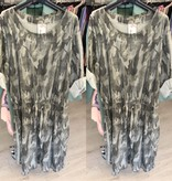 ARMY PRINT STRETCH JURK MATEN 46/48 TOT 52