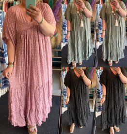 MAXI IBIZA DRESS MATEN 46 TOT 52 KLEINE 54