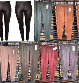 LEATHER LOOK MAGNA KLEUREN LEGGING MATEN 40/42 TOT 56/58