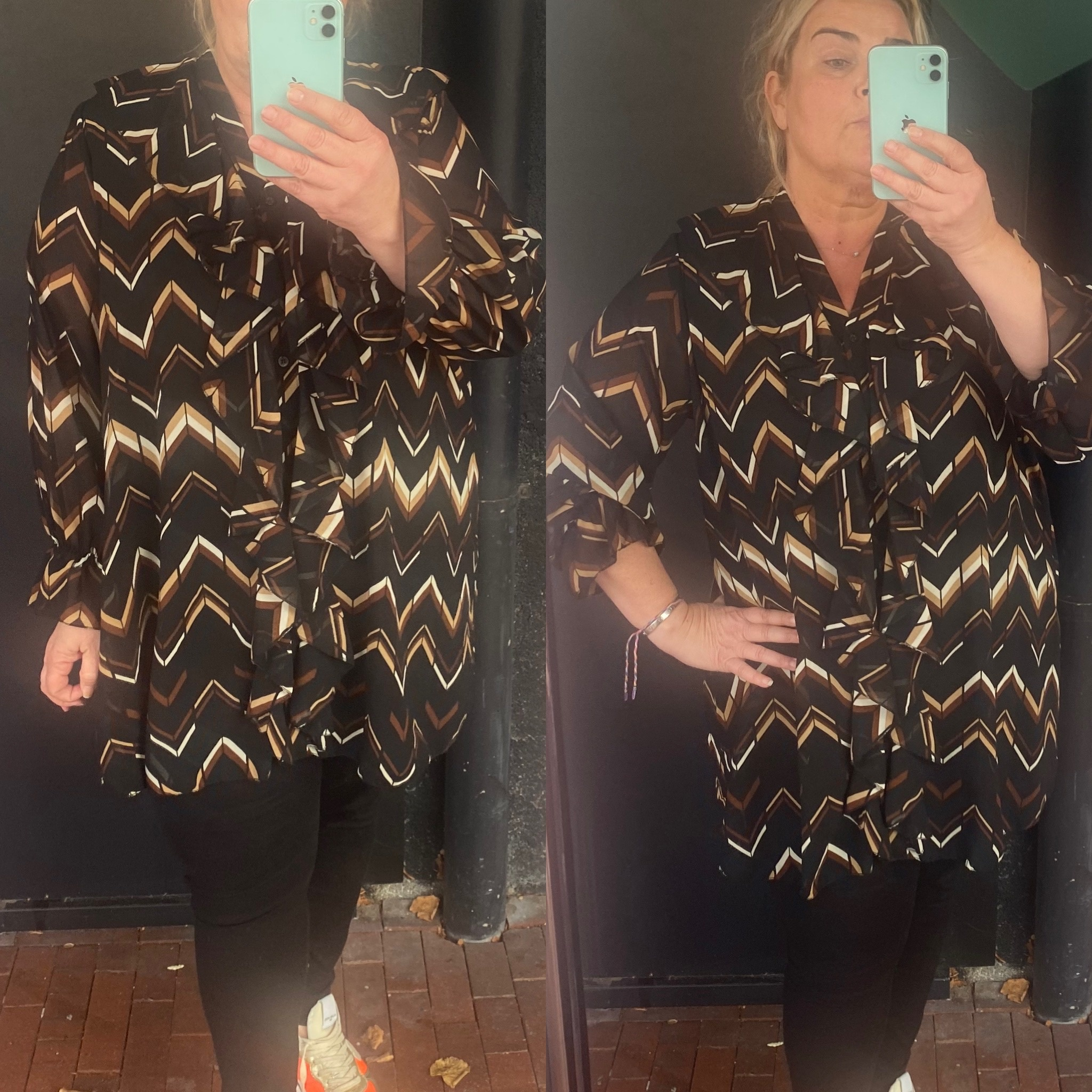 BLOUSE ROES IN 4 PRINTS 44 TOT 50/52