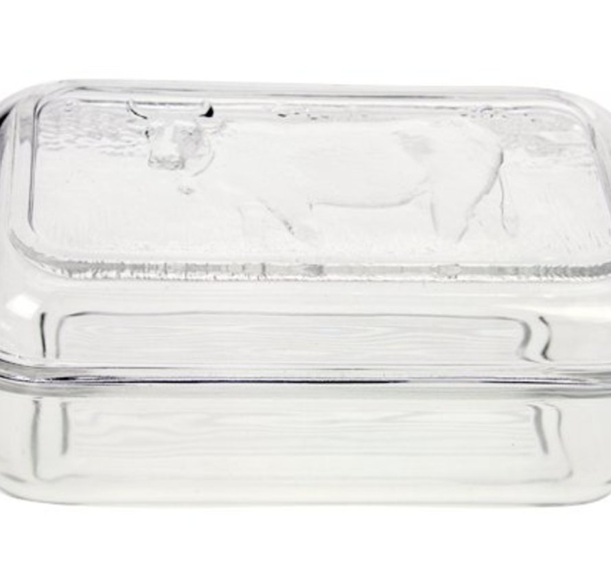 Boterpot Koe Glas (set van 6)