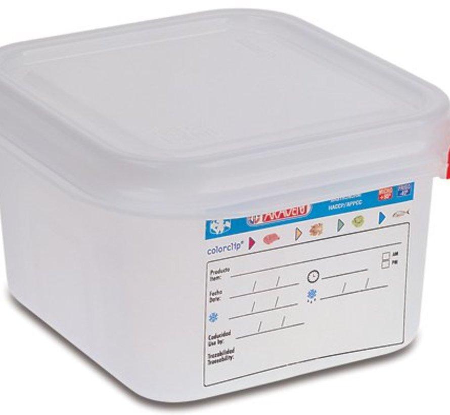 Vershouddoos Herm. Gn1-6 1,7l H10cm Polypropyleen Gn1-6 (set van 6)