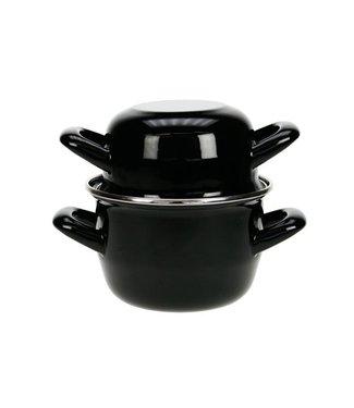 Cosy & Trendy For Professionals Mosselpot Zwart 0,5kg-0,9l Nieuw D12cmnieuw (set van 6)