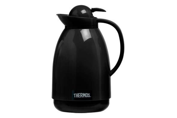Thermos Black Push  Schenkkan 1 L Zwart/