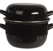 Cosy & Trendy For Professionals Horeca Mosselpot 2kg Zwart 3,250ld20cm (set van 6)