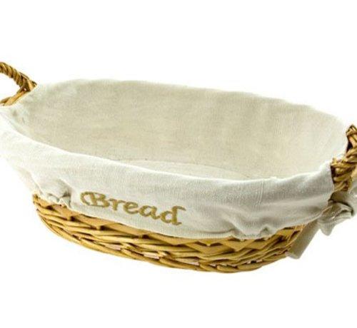 Cosy & Trendy Mandje Bread Ass Bruin-paars 20x29xh8.5ovaal (set van 12)