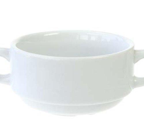 Cosy & Trendy Everyday White Soeptas D10,5xh5,5cmstapelbaar (set van 6)