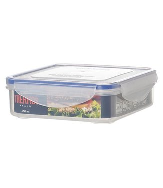 Thermos Airtight Container Square 600 Ml15.5x15.5xh5cm (set of 12)
