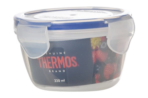 Thermos Airtight Container Round 220 Ml10.5x10.5xh6.5cm (set of 12)