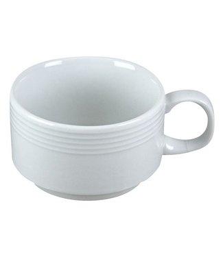 Cosy & Trendy Linea-Wit - Kopje - D8,5xh6cm - 19cl - Porselein - (set van 6)