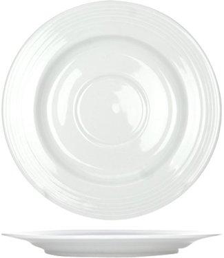 Cosy & Trendy Linea-White - Coffee plate - D15cm - Porcelain - (set of 6)