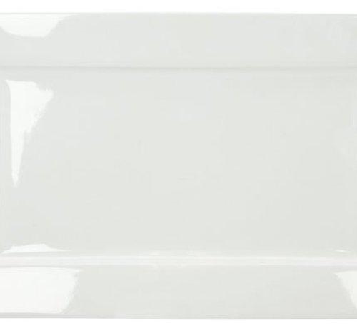Cosy & Trendy Napoli White Plat Bord 35x22cm Rechthoekig (set van 2)