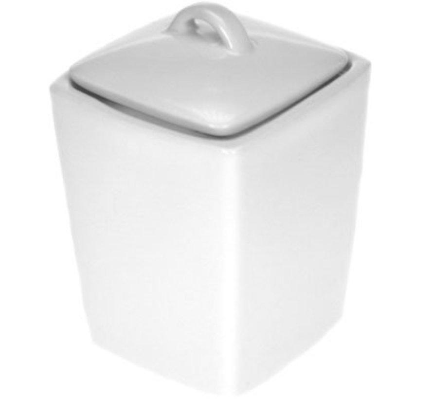 Napoli White Suikerpot Met Deksel 11xh6,5cm
