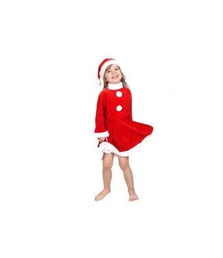 Cosy @ Home Kerstkledij Luxe Jurk Meisjes L56cm