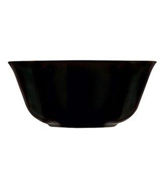 Luminarc Carine - Schaaltje - Zwart - D12cm - Glas - (set van 6).