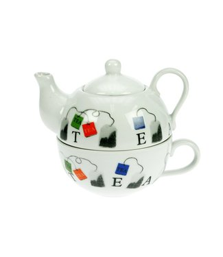 Cosy & Trendy Teaset, Teepot With Cup Set D10xh12cm (set of 6)