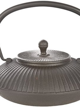 Cosy & Trendy Teapot Cast Iron 1,15l Stria Blackwith Filter Tsp88