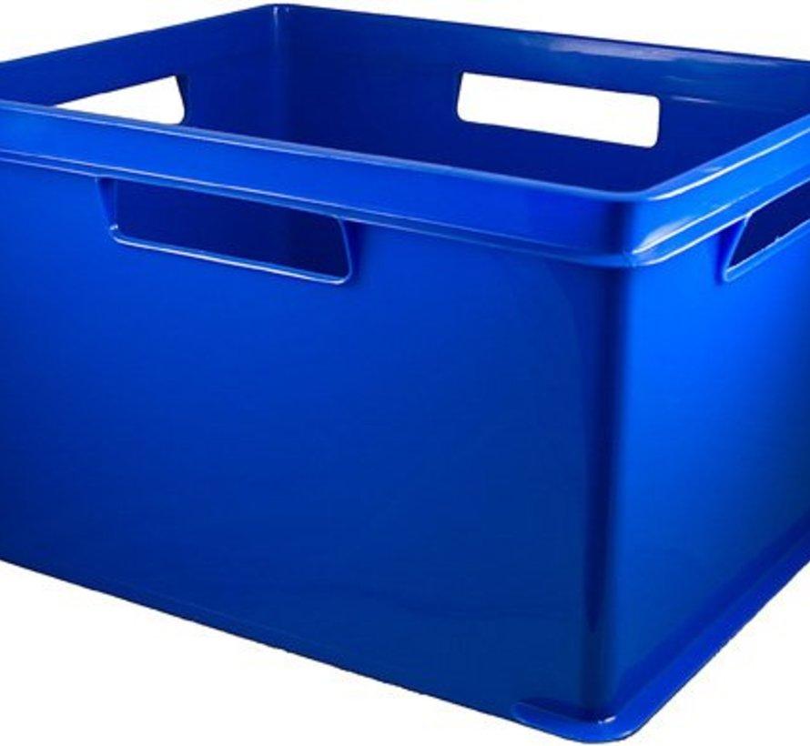 Hobbybox Royalblauw 43,5(l)x35,5(b)x20,5(h) Stapelbaar