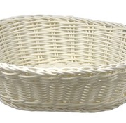 Cosy & Trendy For Professionals Ct Prof Basket White 25x20xh7,5cm Oval Plastic set of 6