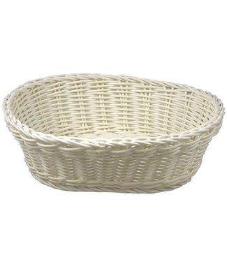 Cosy & Trendy For Professionals Ct Prof Basket Blanco 25x20xh7,5cm Oval Plastic set de 6