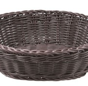 Cosy & Trendy For Professionals Ct Prof Basket Brown Oval 25x20xh7,5cmplastic (set of 6)