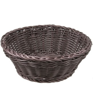 Cosy & Trendy For Professionals Ct Prof Basket Brown Round D20xh8cmplastic (set of 6)
