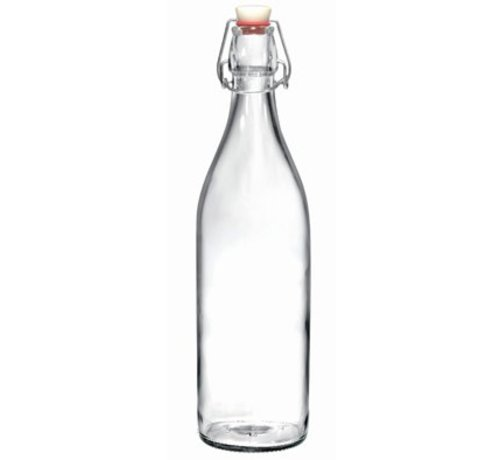 Bormioli Giara Fles Met Capsule Transparant 1l Blister