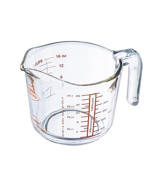 Arcuisine Set of 6 Measuring cups in Glass of 0,5Liter