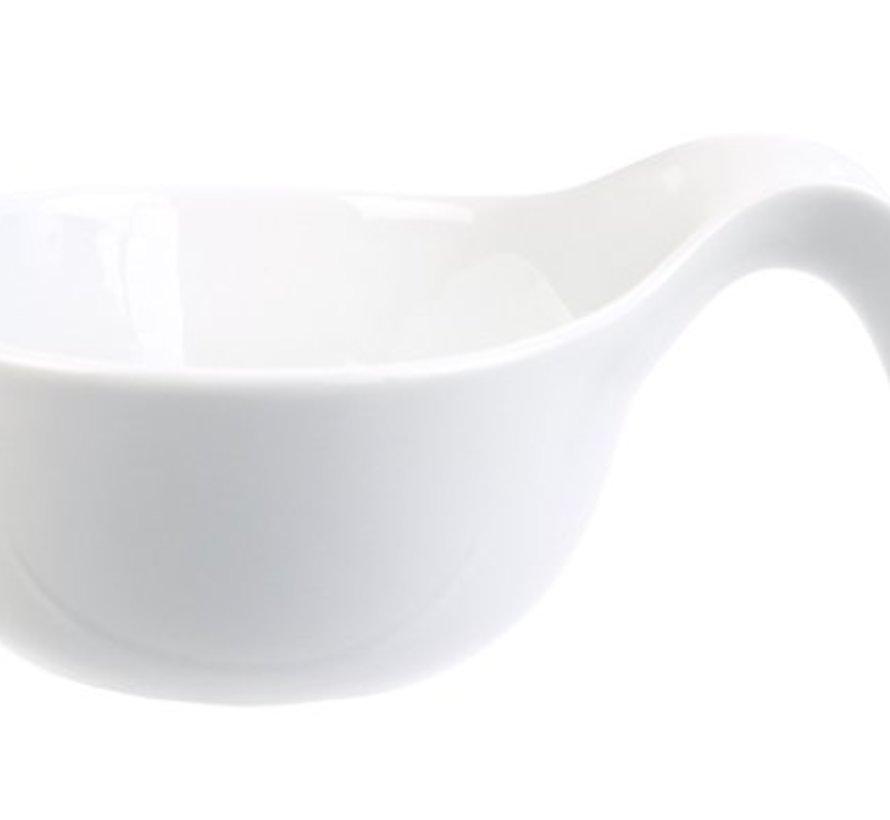 Schale Weiss D8-12,5xh3,5cm LÖffel Form
